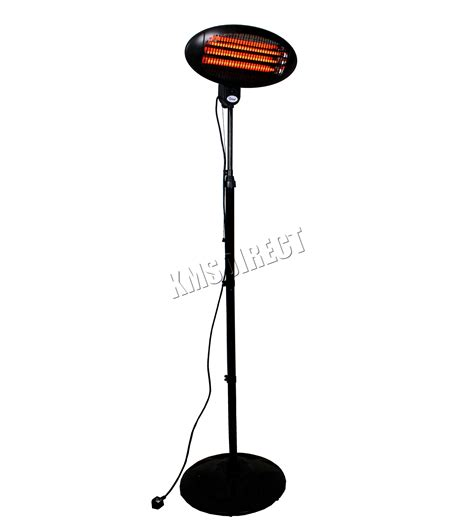 2kw outdoor electric patio heater foxhunter garden outdoor quartz 2kw electric patio heater