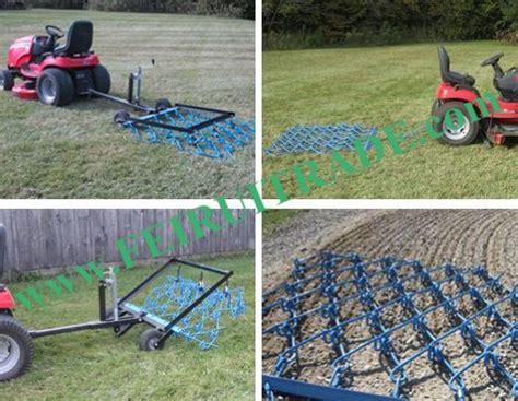 Landscape Rake Vs Chain Harrow Pasture Drag Chain Harrow Landscape Drag Rake Atv Tractor