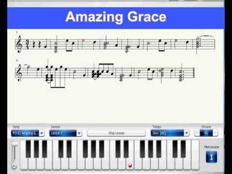 tutorial piano amazing grace learn how to play piano piano virtual score amazing
