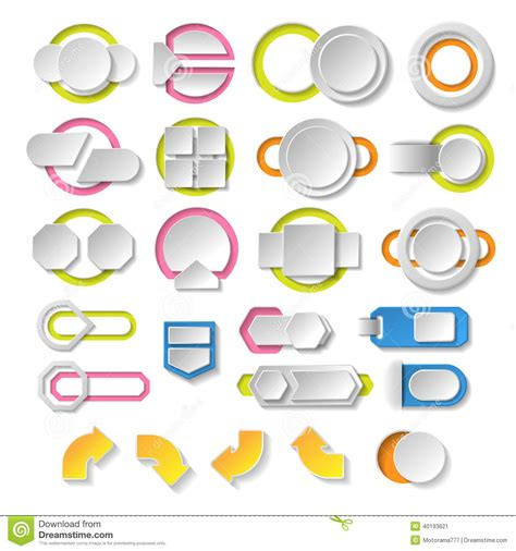 modern design elements empty infographics elements modern design template