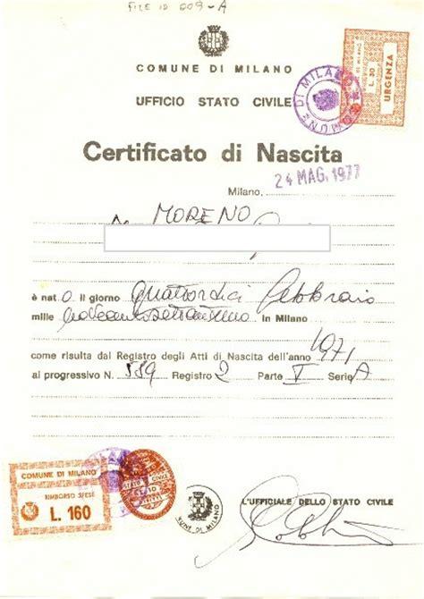 ufficio casellario giudiziale roma certificato anagrafico altro comune italiano certificati