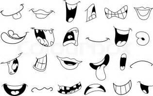 printable animal noses gegliederten cartoon mund satz vektorgrafik colourbox