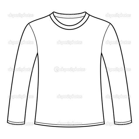 17 Long Sleeve Tee Shirt Design Template Vector Images Long Sleeve Shirt Template Vector Long Sleeve Template