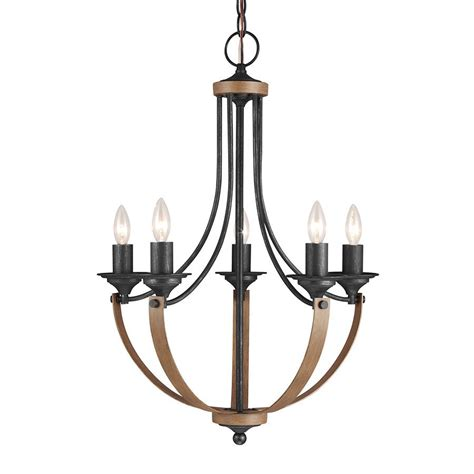 Shop Sea Gull Lighting Corbeille 21 5 In 5 Light Stardust Iron Candle Chandelier