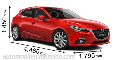 mazda 3 dimensions 2010 dimensions of mazda cars showing length width and height