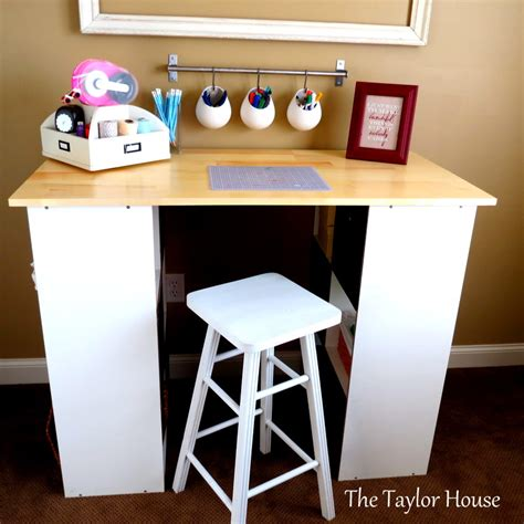 Small Craft Desk Diy Inexpensive Craft Table With Storage The House