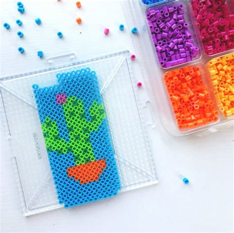 how to make perler without a pegboard perler bead diy iphone holder color made happy