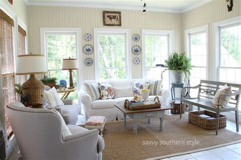 southern decorating style sunroom decor savvy southern style sunroom pinterest