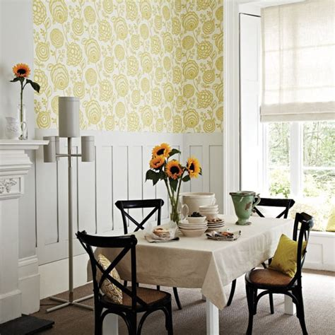 Wallpaper Dining Room Ideas Warm Patterned Dining Room Dining Room Housetohome Co Uk