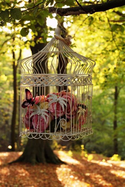 lovely repurposed bird cages