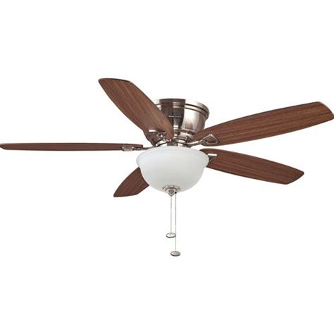 hugger 52 in brushed nickel ceiling fan honeywell eastover hugger ceiling fan brushed nickel 52