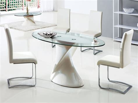 Glass Oval Dining Table And Chairs Dining Room Interesting Dining Area Implemented With Small Oval Glass Dining Room Table Placed