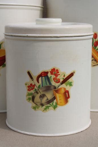 cute kitchen canister sets vintage kitchen canisters metal canister set tins w