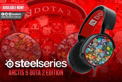 Steelseries Arctis 5 Dota 2 Limited Edition 7 1 Gaming Headset 61445 steelseries arctis 5 surround gaming headset dota 2 edition at datablitz loopme philippines