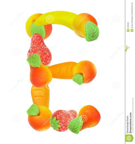 fruit 12 letters alphabet de fruit la lettre e illustration stock