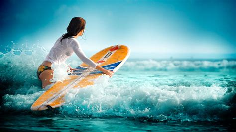 wallpaper girl surf surfing wallpaper high definition high quality widescreen