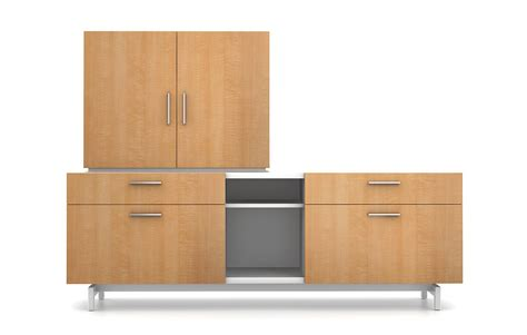 Watson Desking by The Zo Collection Of Stackable Credenzas By Watson Desking