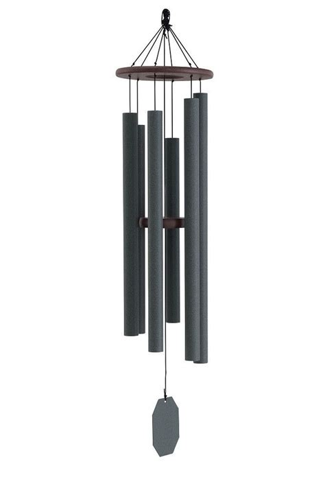 Handmade Wind Chimes - serenity wind chime weathered bronze 48 inch amish