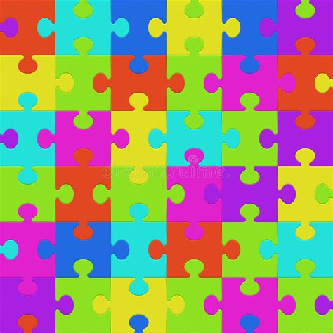 puzzle pattern illustrator colorful puzzle seamless background pattern stock vector