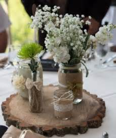 French Country Decor Catalog - rustic mason jar wedding centerpiece set of 3 jars wedding and centerpieces
