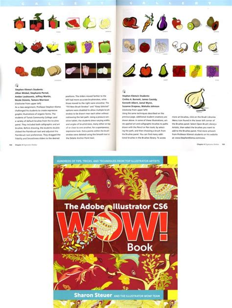 adobe illustrator cs6 wow book tunxis graphic design students illustrations published in