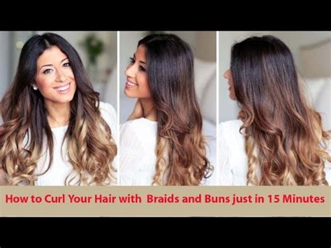 how to roll braid hair how to curl your hair with braids and buns youtube