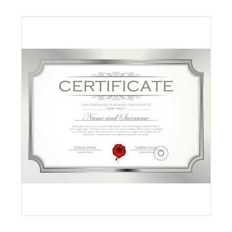 free professional certificate templates best certificate template design vector 04 vector cover