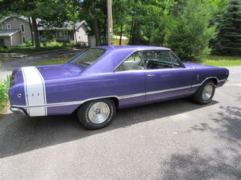 purple dodge dart 1968 dodge dart gt plum purple white interior