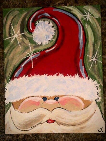 Santa On Canvas » Home Design 2017