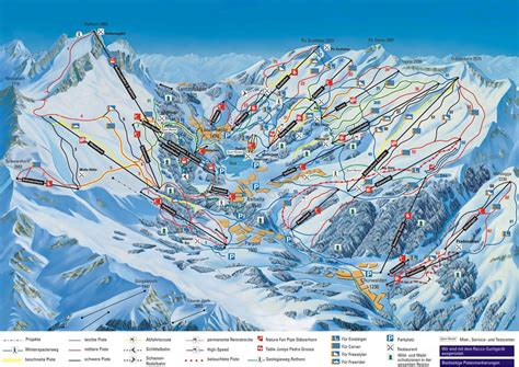 chur map switzerland chur slopes ski map chur runs in the ski