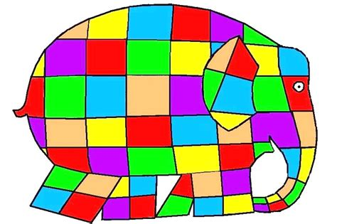 Elma The Patchwork Elephant - free coloring pages of elephant elmer