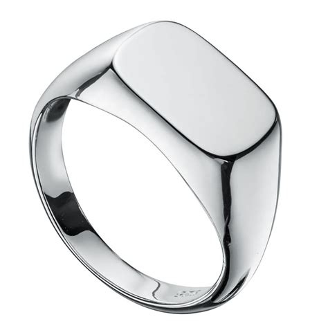 mens signet ring personalised 925 sterling silver