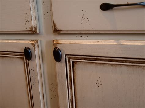How To Paint And Antique Kitchen Cabinets My Way How To Paint Stained Kitchen Cabinets White