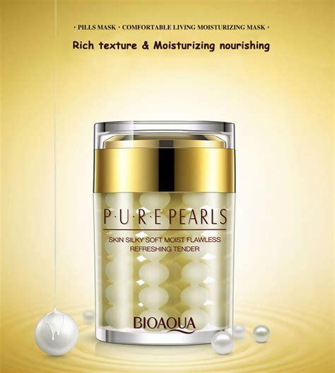 Krim Wajah bioaqua krim wajah pearl anti aging 60g golden