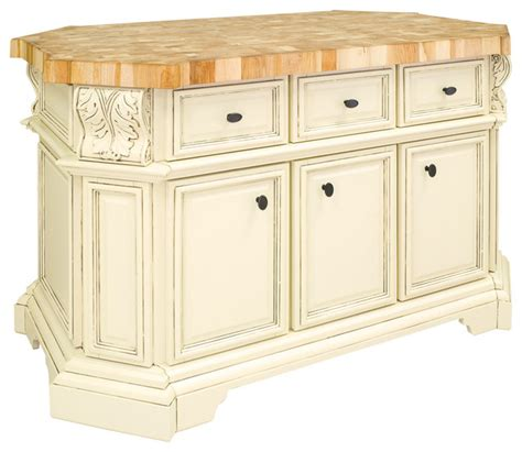 antique white large island with three drawers cabinets