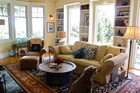 hanging family pictures in living room chic narrow bookcase in living room traditional with