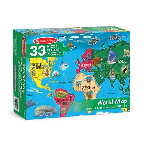 melissa doug world map extra large floor puzzle