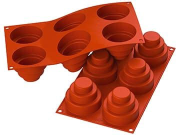 J306 Silicone Triangle 28 Cavity Cetakan Silicone Baking Tools Supply petit four moulds meilleurduchef