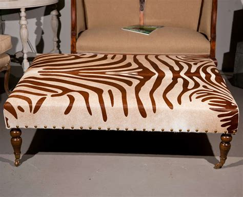 cowhide ottoman coffee table cowhide ottoman coffee table at 1stdibs