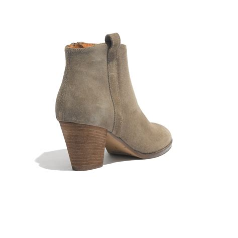 madewell the billie boot in suede in brown marsh lyst