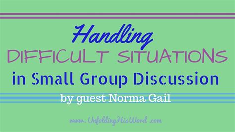 complicated situation longest article ever forums handling difficult situations in small group discussion