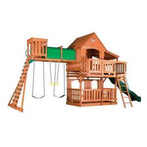 home depot swing set backyard discovery woodridge ii all cedar swing set