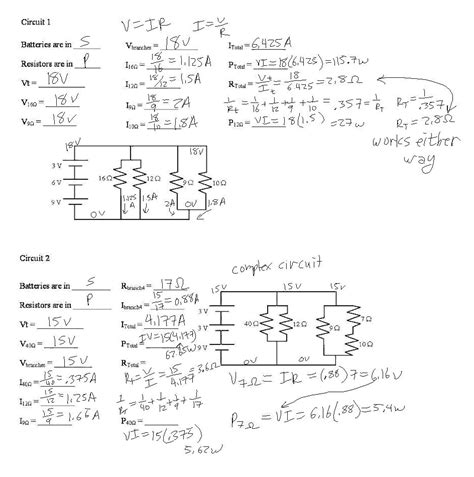 practice electrical circuits ohms worksheet abitlikethis