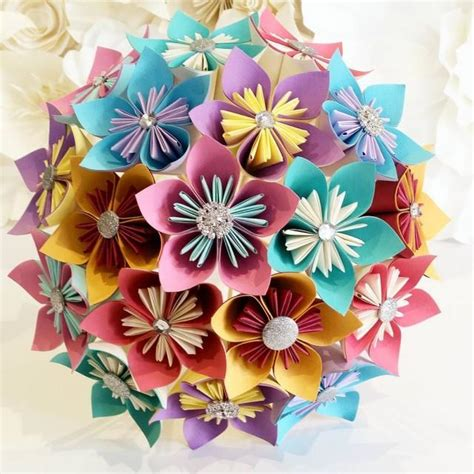 Origami Org Uk - paper flowers bouquet origami bridal stationary uk