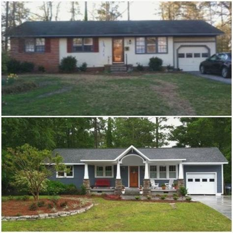 ranch style home remodel before and after 11286