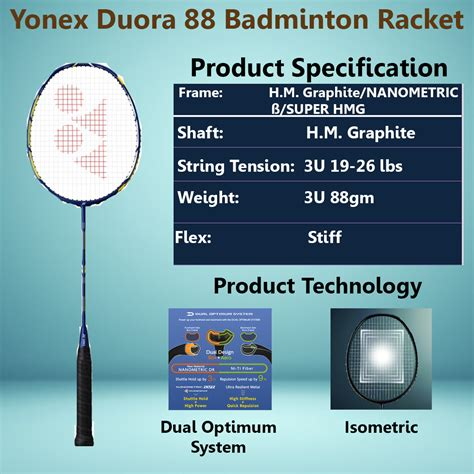 Raket Yonex Duora 88 yonex badminton racket in march 2016 khelmart