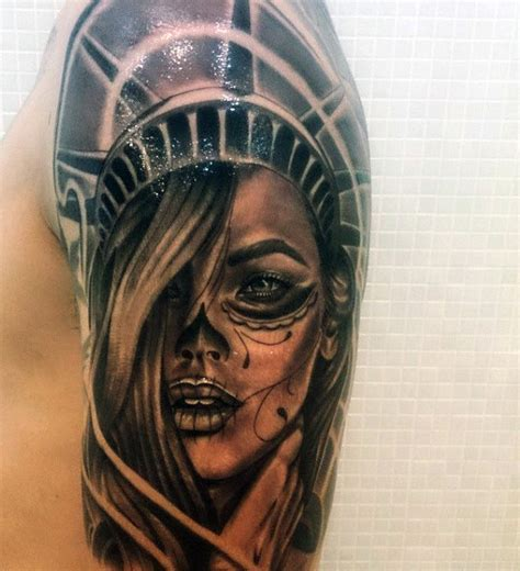 liberty tattoos 11 statue of liberty tattoos that every american will