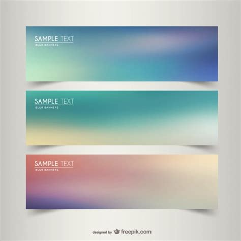 templates for banners free download blurry banner templates vector free download