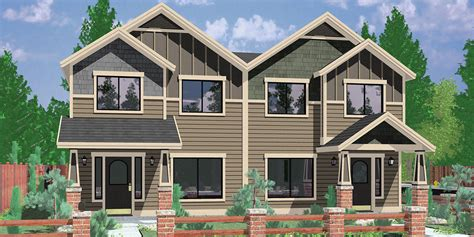 townhouse house plans house plans duplex triplex custom building design firm