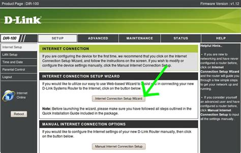D-Link DIR 100 router VPN set up guide for View TV Abroad D'link Router Password Setup